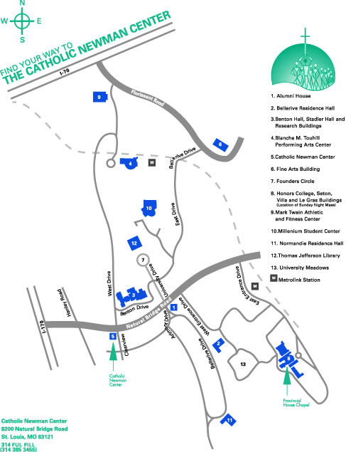 Catholic Newman Center Umsl Map Directions