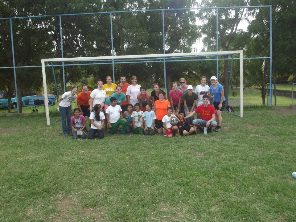 soccer game with kids, group picture