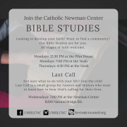 •Join one of the Catholic Newman Center's Small groups•(3)
